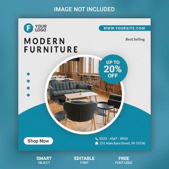 Furniture social media post template banner