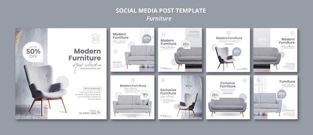 Furniture social media post