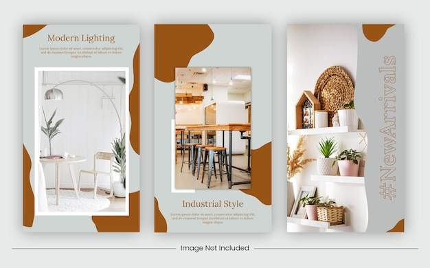 Furniture social media strories template banner