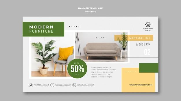 Modello di banner del negozio di mobili