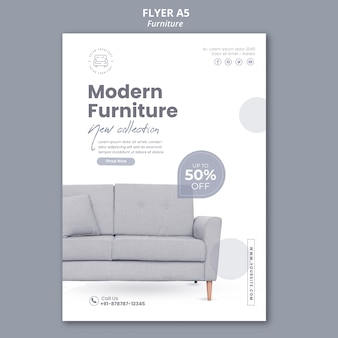 Furniture store poster template