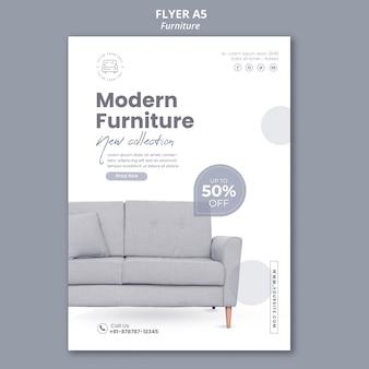 Modello di poster del negozio di mobili