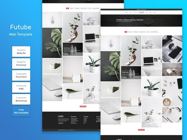 Веб-шаблон страницы категории личного портфолио futube