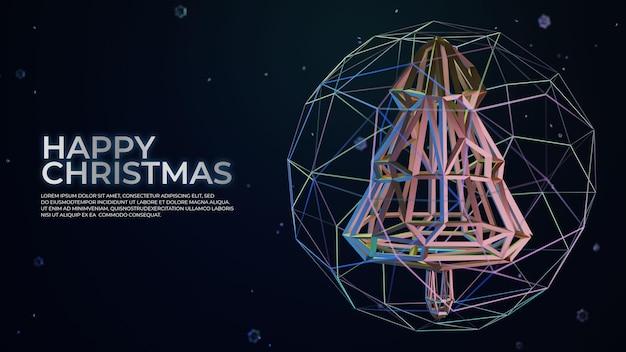 미래 지향적인 크리스마스 트리 스켈레톤 디자인