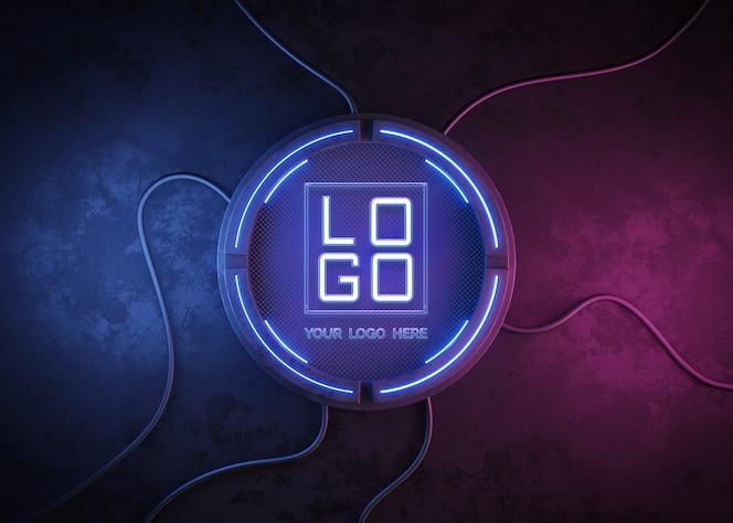 futuristic circle for logo mockup