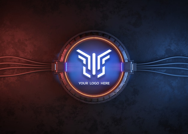 Futuristic circle for logo mockup