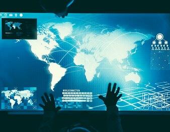 Futuristic global business concept