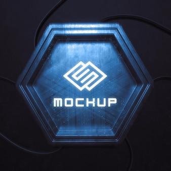 Futuristic logo effect projected