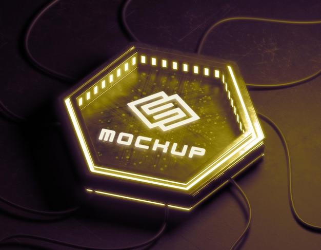 Effetto logo futuristico proiettato