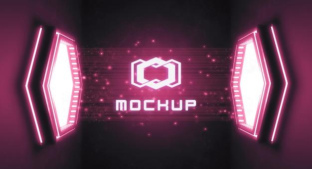 Futuristic logo effect projection