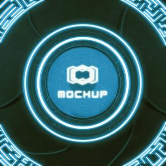 Proiettore di effetti logo futuristico