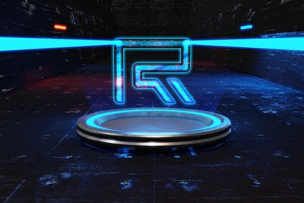 Футуристический макет логотипа