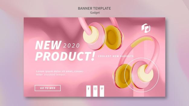 Gadget concept banner template