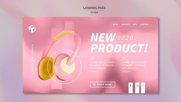 Gadget concept landing page template