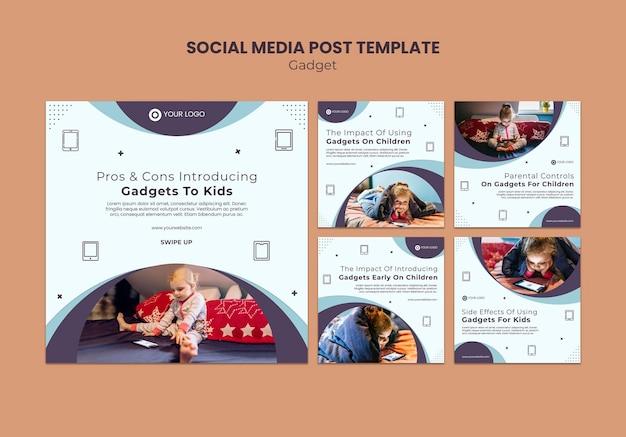어린이 소셜 미디어 게시물에 대한 가젯 영향