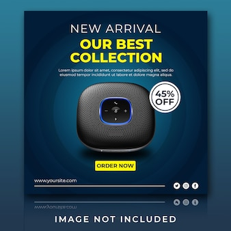 Gadget and speaker for sale new arrival instagram post template