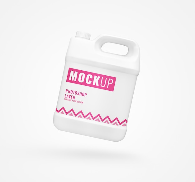 Gallon bottle mockup