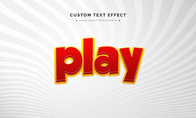 Game 3d text style effect