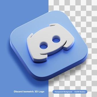分離されたラウンドコーナーバッジのゲームアプリ3dコンセプトロゴアイソメトリックアイコン