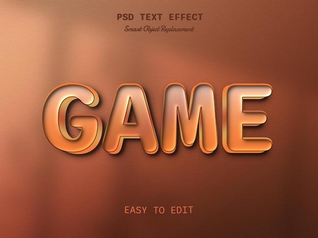 Игровой редактируемый шаблон эффекта стиля текста 3d