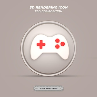 Значок игрового механизма в 3d-рендеринге
