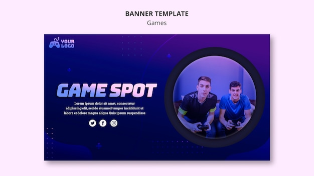 Game spot banner template