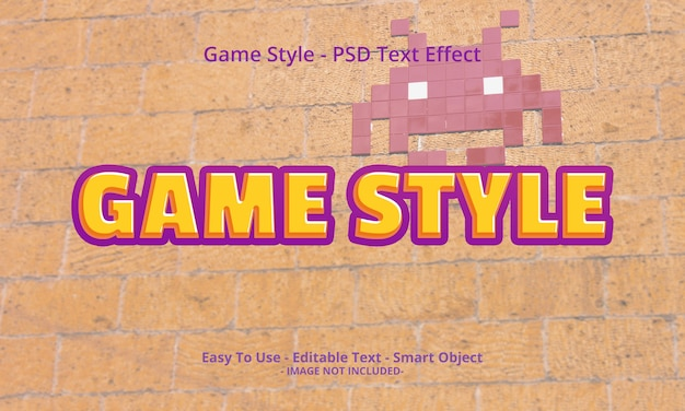 Game style 3d text effect