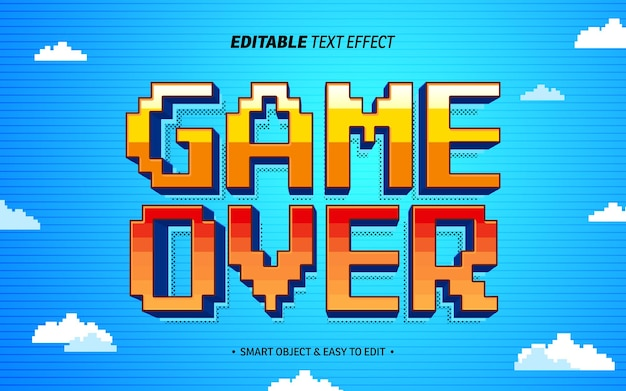 Game over text effect