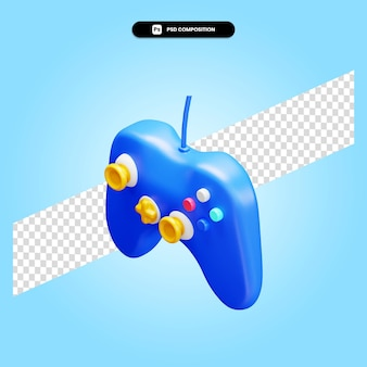 Gamepad 3d render illustration isolated
