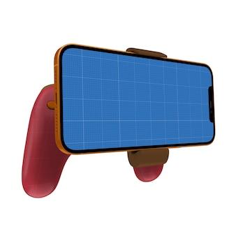 ゲームパッド電話のモックアップ