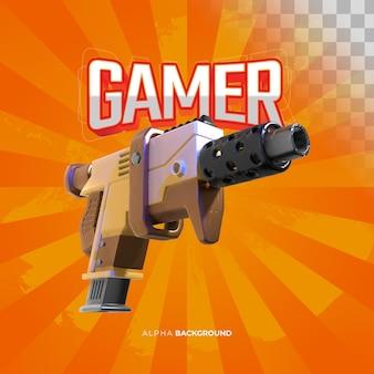Карта геймера с оружием