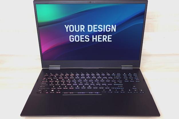 Gamer laptop mockup