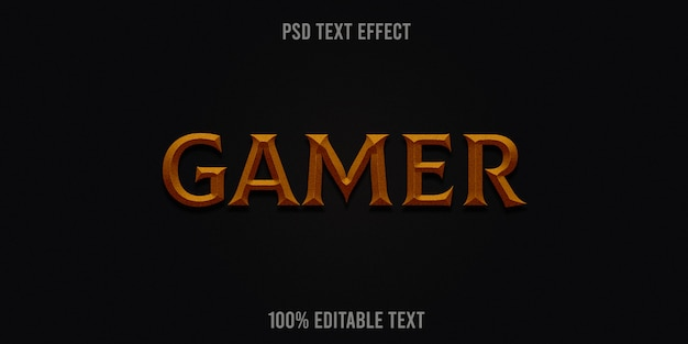 Gamer text effect