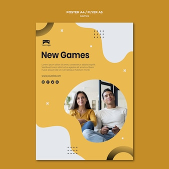 Games poster template concept