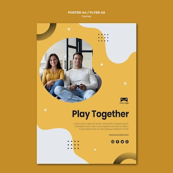 Games poster template theme