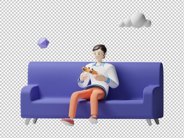게임 3d 일러스트 디자인 렌더링 격리 된 문자