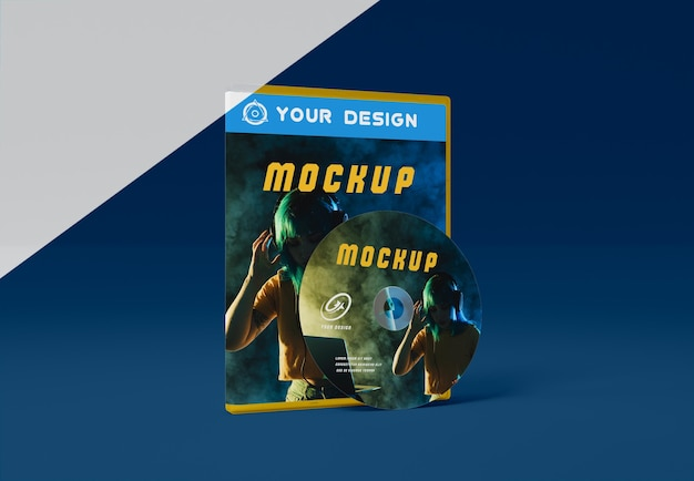 ゲームの抽象的なパッケージとcdモックアップ