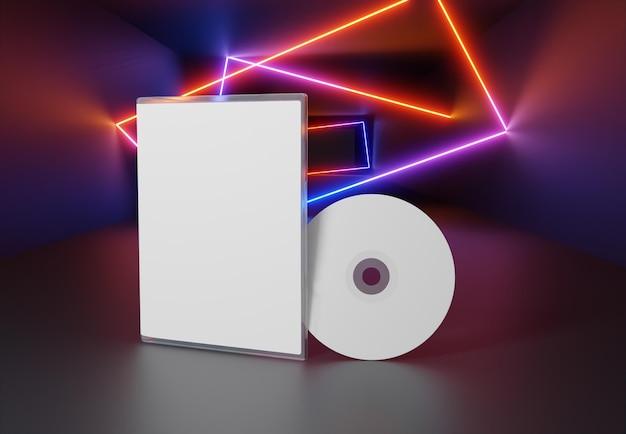 Игровая абстрактная упаковка и макет cd