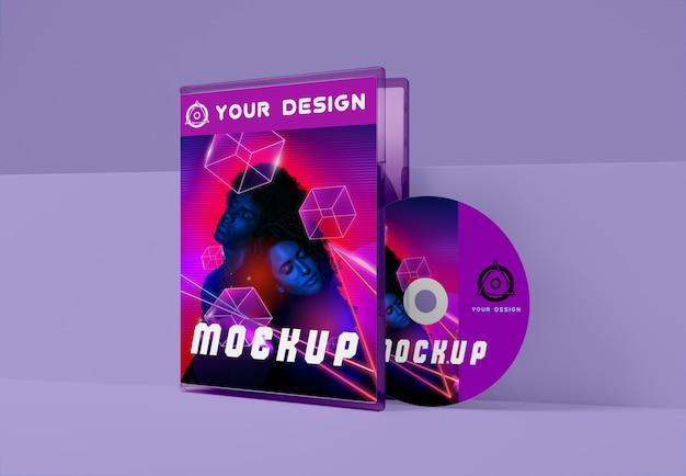 Gaming abstract packaging and cd mockup