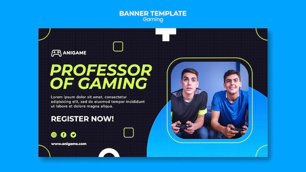 Gaming concept banner design