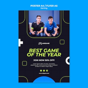 Gaming concept flyer template style