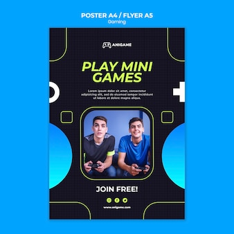 Gaming concept flyer template