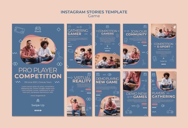 ゲームのコンセプトinstagramストーリーテンプレート