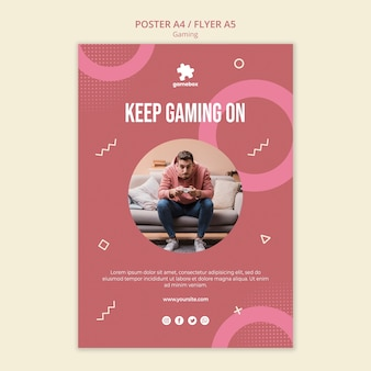 Gaming concept poster template