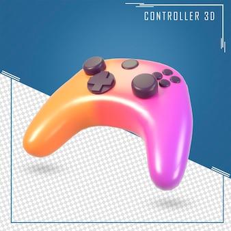 Игровой контроллер градиента цвета 3d-рендеринга