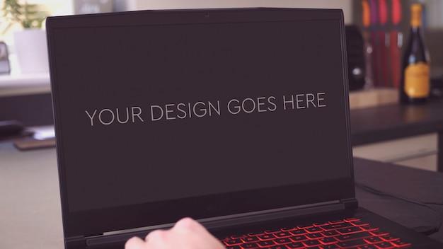 Gaming laptop display mockup