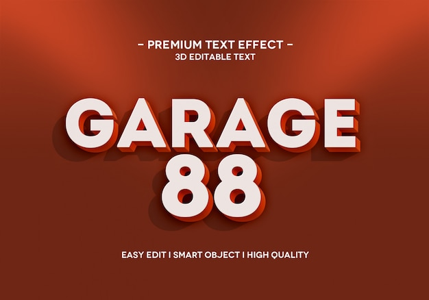 Шаблон стиля текстового эффекта garage 88