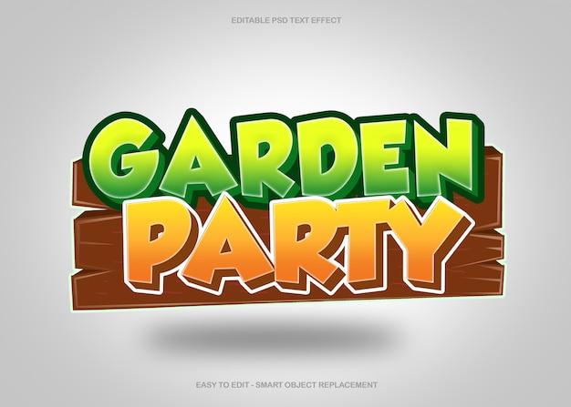 Текстовый эффект вечеринки в саду