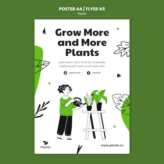 Gardening hobby flyer template
