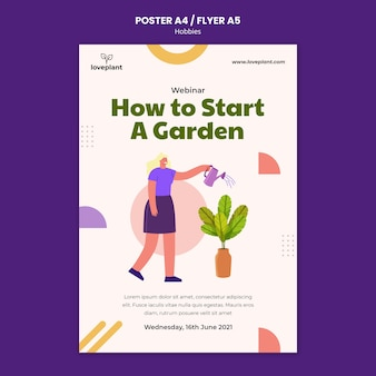 Шаблон плаката садоводства